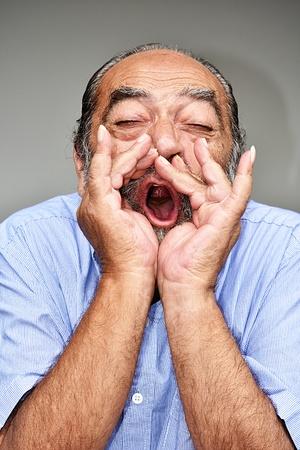 Retired Grandpa Yelling