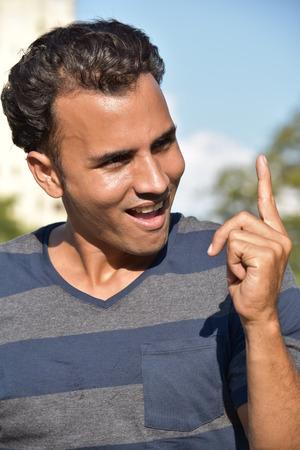 Latino Male Having An Idea Фото со стока