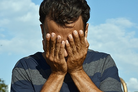 Ashamed Colombian Male Stock Photo - 97270319