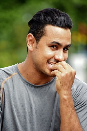 Adult Male Athlete Under Stress Stock Photo
