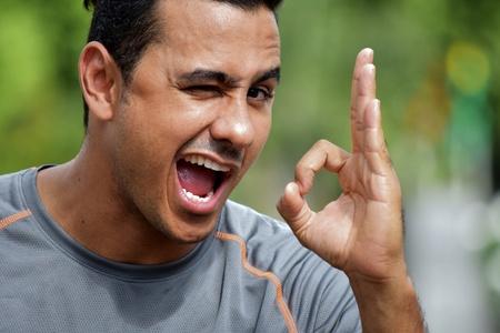 Colombian Male Athlete Winking Stock fotó