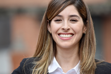 Adult Business Woman Smiling Wearing Suit