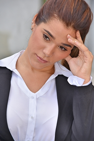 Depressed Young Person Stock Photo