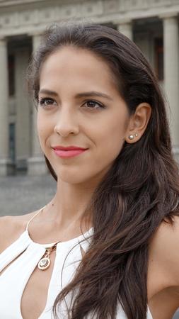 Female With Long Hair Zdjęcie Seryjne