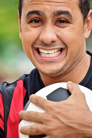 Adult Male Soccer Player Smiling