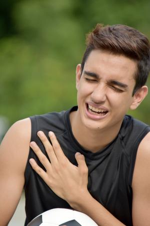 Sore Latino Person Stock Photo