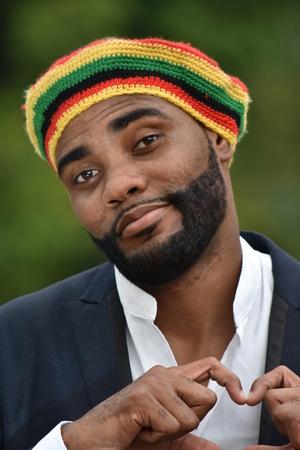 Adult Black Jamaican Man And Love 版權商用圖片