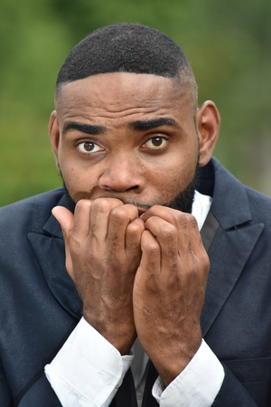 Fearful Bearded Person