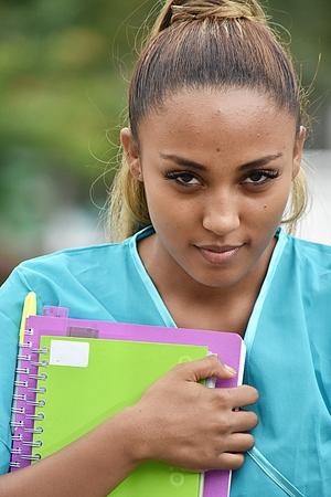 Teen Hispanic Female Nursing Student