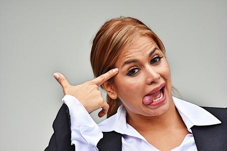 Crazy Diverse Business Woman