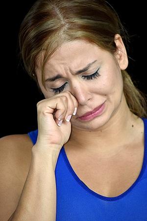 Crying Sporty Person Banco de Imagens - 99007961