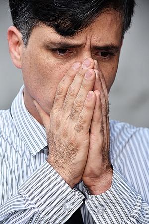 Sad Ashamed Business Man