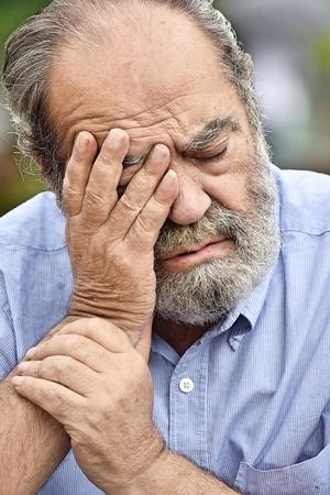 Stressful Retired Person