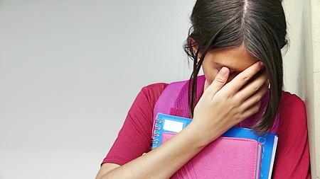 Sad Catholic Person Stock Photo
