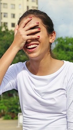 Beautiful Female And Laughter