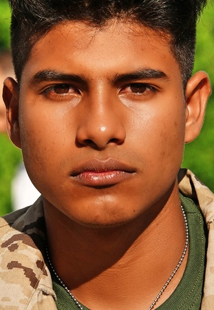 Serious Army Male Soldier