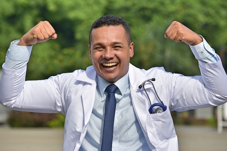 Male Medical Professional And Muscles Stock Photo