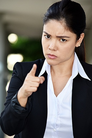 Attractive Business Woman And Anger