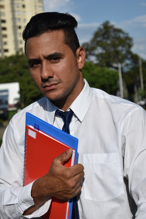 Handsome Hispanic Male Business Student