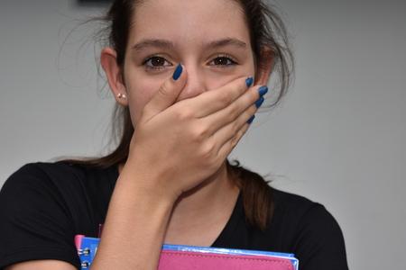 Ashamed Girl Student Stock Photo