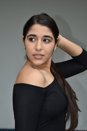 Posing Latina Female
