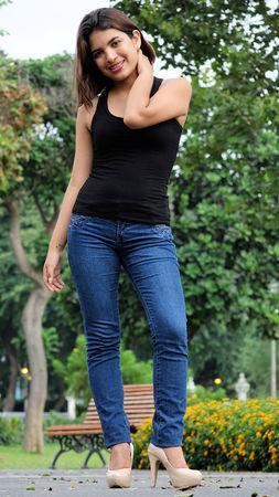 Latina Girl And Happiness