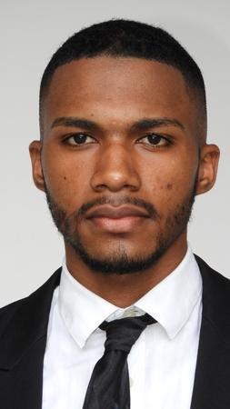 Unemotional Black Person Stock Photo