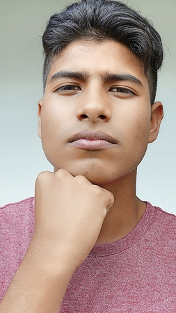 Minority Teenager Male And Confusion