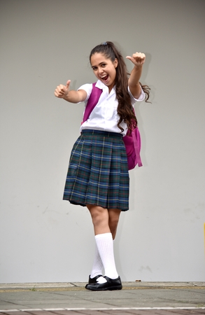 Overjoyed Student Teenager School Girl