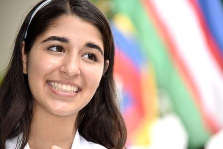 Smiling Teen Girl Foreigner