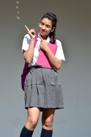 Creative Cute Colombian Person Wearing School Uniform