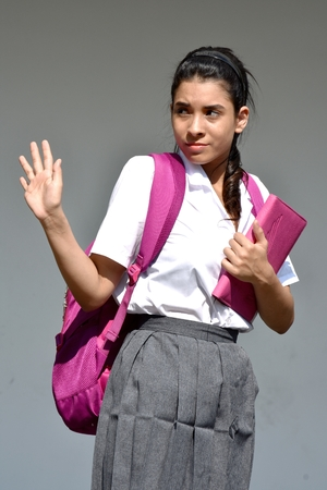 Female Student And Rejection Stock Photo