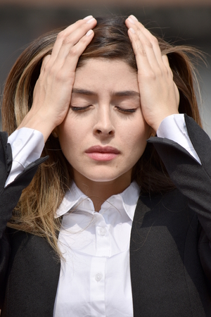 Anxious Colombian Person Stock Photo