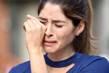 Tearful Attractive Diverse Female