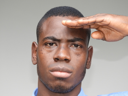 African Male Saluting