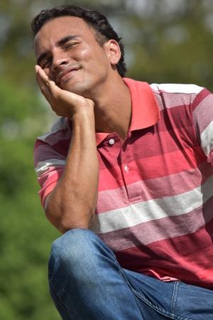 Handsome Male Thinking Banco de Imagens - 106312513