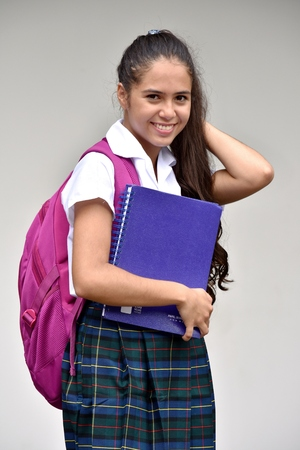 Portrait Of A Female Student Wearing School Uniform
