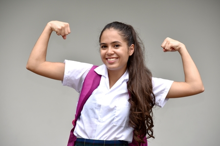 Catholic Female Student And Muscles
