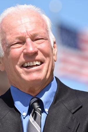 Adult Senior Male Politician Smiling 免版税图像