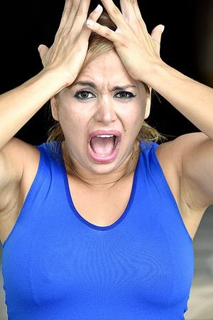 Stressed Athlete Girl