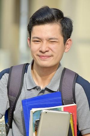 Unemotional Boy Student Stock Photo