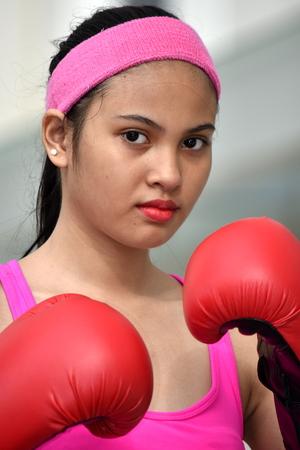 Unemotional Sporty Female Athlete