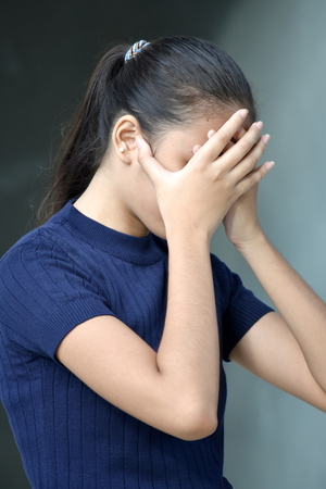 Disappointed Beautiful Minority Teenage Female