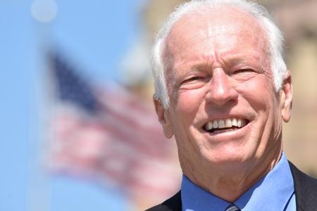 Adult Senior Male Politician Smiling Stock fotó