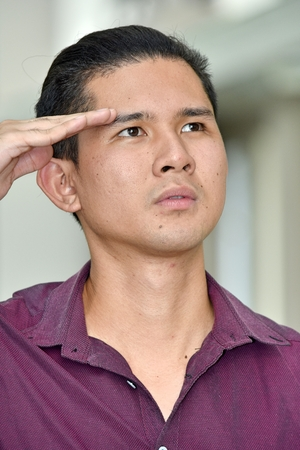 Saluting Filipino Male