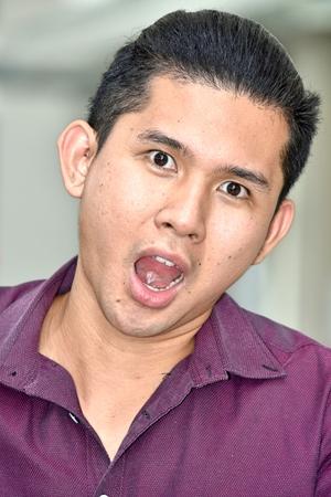Shocked Adult Male 免版税图像