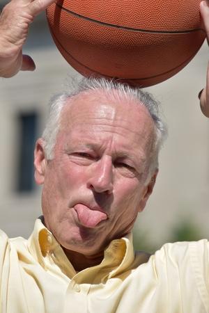Goofy Male Basketball Coach Stock fotó