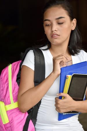 Unhappy School Girl