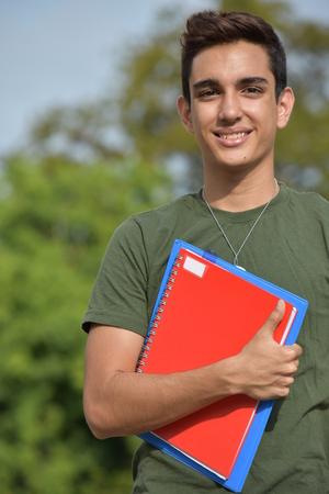 Young Hispanic Male Teen Military Student 版權商用圖片