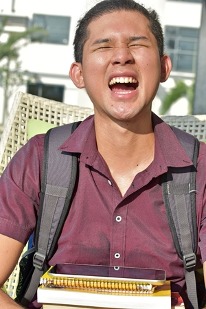 Young Minority Student And Laughter